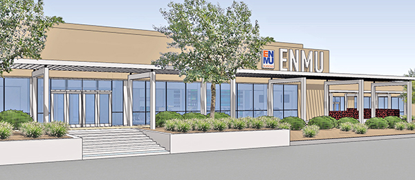 Artist rendering of ENMU-Ruidoso main entrance after remodel