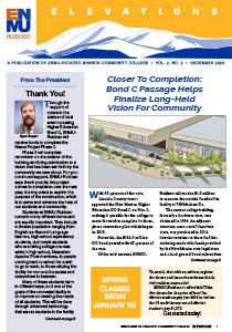 Front page thumbnail of vol 2 no 2 December 2020 Elevations newsletter