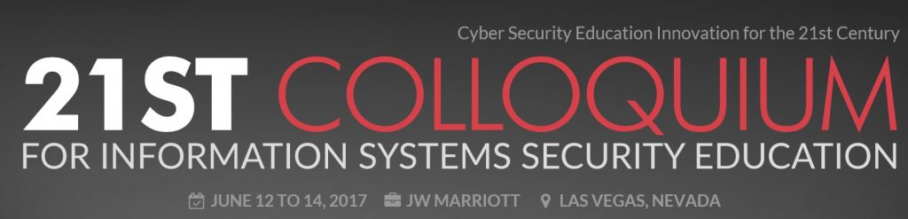 21st Colloquium for Information Systems Security Education (2017)