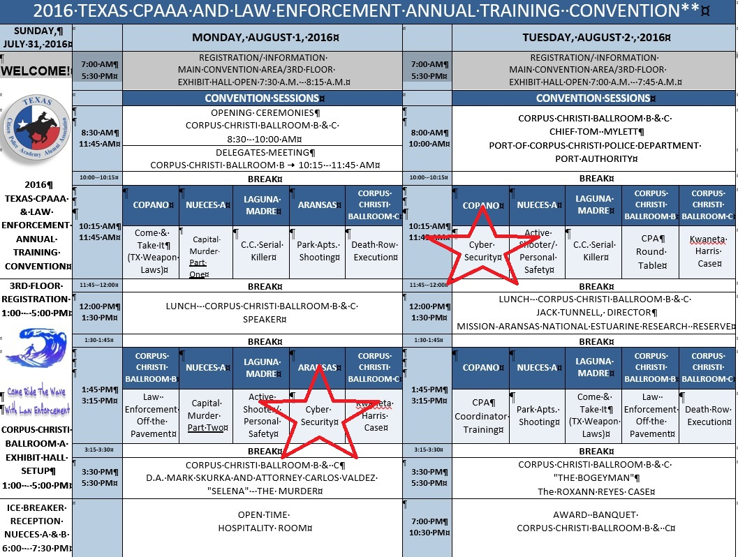 2016 Texas CPAAA and Law Enforcement Annual Tranining Convention