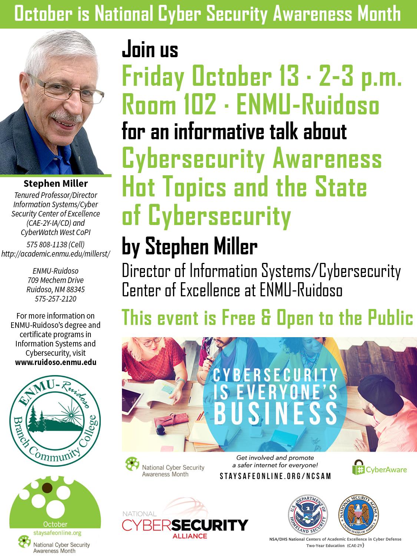 Cybersecurity Awareness info brochure (2017)