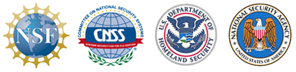 NSF, CNSS, Homeland Security and NSA logos