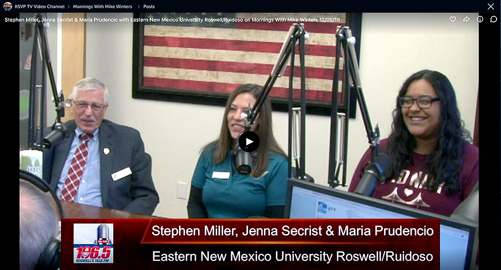 Image of Stephen Miller in Roswell Radio Station interview