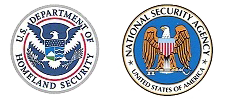 US Dept. of Homeland Security and National Security Agency logos