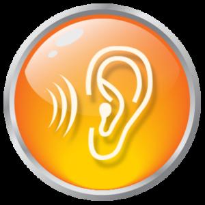 'Listen' graphic button