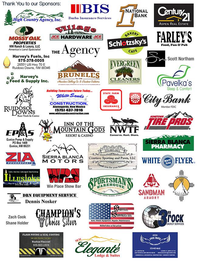 2019 Aim High Sponsor Logos