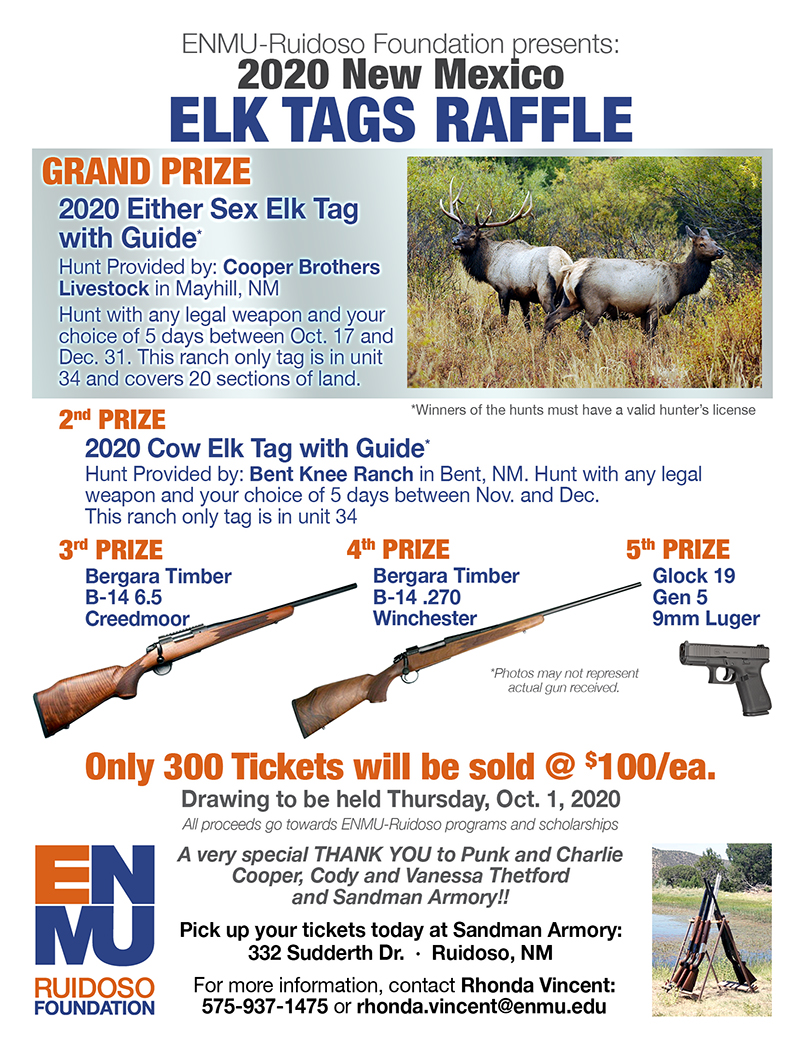 2020 NM Elk Tags Raffle graphic