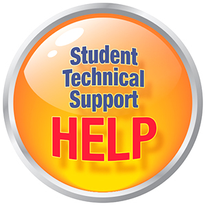 Student Technical Support HELP button graphic