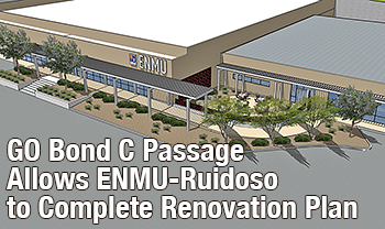 Artist rendering showing renovated exterior of ENMU-Ruidoso