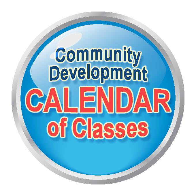 Community Development Calendar of Classes button