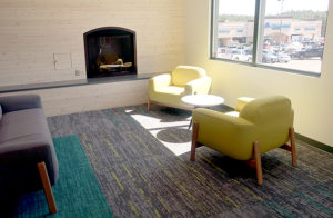 Fireplace in North Commons area
